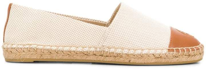 Tory Burch colourblock canvas espadrilles