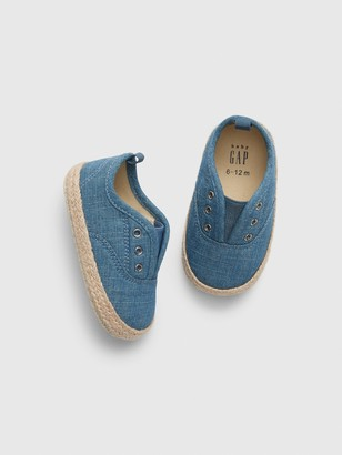 Gap Baby Chambray Espadrille Slip-On Sneakers