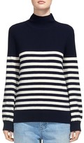 Whistles Mock-Neck Striped Sweater