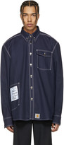 Vetements Navy Carhartt Edition Workwear Shirt