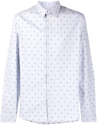Paul Smith Long-Sleeved Micro-Print Shirt