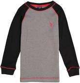 U.S. Polo Assn. Black & Gray Raglan Tee - Boys