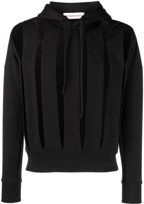 Walter Van Beirendonck Pre-Owned Slit drawstring hoodie
