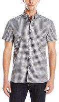 Kenneth Cole Reaction Men's Short Sleeve Check Shirt