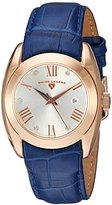 Swiss Legend Women's 'Liberty' Quartz Stainless Steel and Leather Automatic Watch, Color:Blue (Model: 10550-RG-02S-BLS)