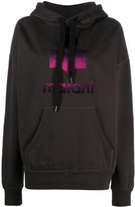Etoile Isabel Marant Logo-Print Oversized Hoodie