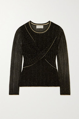 Peter Pilotto Metallic Twist-front Knit Top - Black