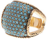 Ariella Collection Pave Pillow Ring - Size 7