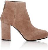 Prada Women's Suede Platform Ankle Boots-TAN