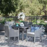 Ophelia & Co. Sudie Outdoor Wicker Square 5 Piece Dining Set with Cushions & Co.