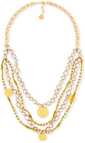 Devon Leigh Copper-Infused Mother-of-Pearl Multi-Strand Necklace