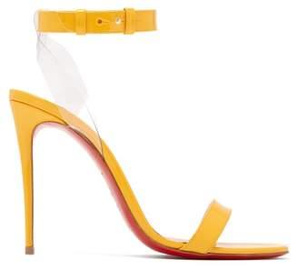Christian Louboutin Jonatina 100 Patent Leather Sandals - Womens - Yellow