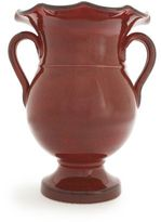 Sur La Table Red Italian Scalloped-Edge Vase