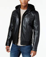 MICHAEL Michael Kors Big and Tall Hooded Faux Leather Jacket