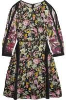 3.1 Phillip Lim Meadow Flower Cold-Shoulder Printed Silk-Crepe Dress