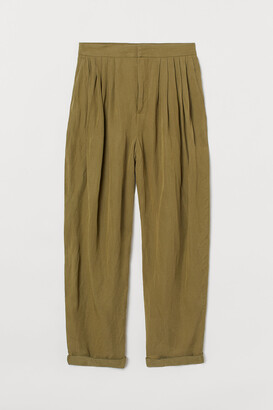 H&M Wide twill trousers