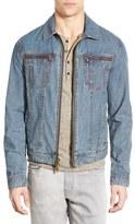 John Varvatos Men's Zip Front Denim Jacket