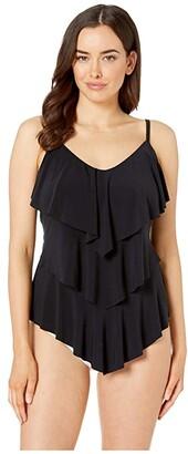 Magicsuit Solid DD Rita Tankini (Black) Women's Swimwear
