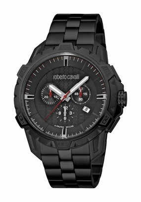 Roberto Cavalli Men's RC-83 Swiss Quartz Watch with Stainless Steel Strap