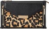 Dune Engellie removable leopard print pouch clutch bag
