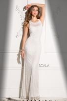 Scala 48714 High Neck Long Evening Dress