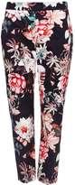 Black Floral Print Trouser