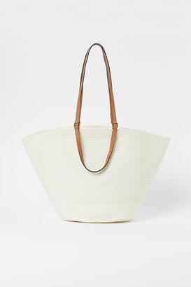 H&M Straw Shopper - White