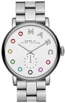 Marc Jacobs 'Baker' Crystal Index Bracelet Watch, 37mm