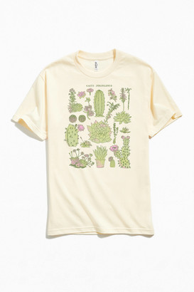 Cacti And Succulents Chart Tee