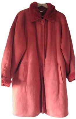 Loewe Orange Suede Coat for Women Vintage
