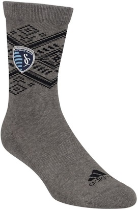 adidas Women's Heathered Gray Sporting Kansas City Tribal Crew Socks