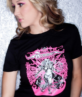 Femme Metale Jewelry T Shirt Pink Girl