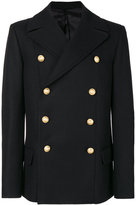 Balmain Caban Croise coat - men - Cotton/Cupro/Viscose/Wool - 48