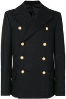 Balmain Caban Croise coat - men - Cotton/Cupro/Viscose/Wool - 48