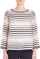 Goat Women's Breton Organza-Striped Top