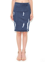 KENDALL + KYLIE Distressed High Rise Skirt