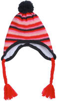 Joe Fresh Kid Girls' Stripe Hat, Red (Size L/XL)