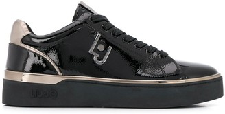 Liu Jo Low Top Patent-Leather Sneakers