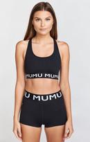 MUMU Franklyn Logo Short ~ Black Firm Stretch