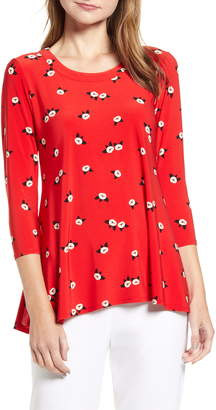 Anne Klein Chatterly Rose Trapeze Top
