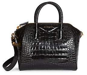 Givenchy Women's Small Antigona Croc-Embossed Leather Satchel