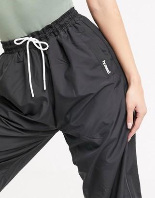 Hummel Hive oversized joggers in black