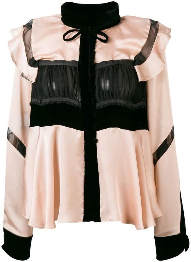 Sacai ruffled front blouse