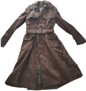 Gianfranco Ferre Brown Cotton Trench Coat for Women