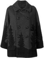 DSQUARED2 double-breasted coat - women - Polyamide/Polyester/Cashmere/Virgin Wool - 40
