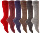 Lian LifeStyle Women's Petite Plus Size High Crew Wool Socks
