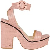 Jimmy Choo Aimee Croc-Embossed Platform Sandals