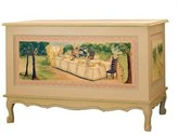 The Well Appointed House French Toy Chest with Alice in Wonderland Theme