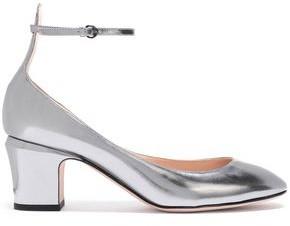 Valentino Mirrored-leather Pumps