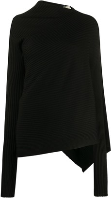 Marques Almeida Asymmetric Ribbed Knit Jumper